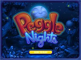 Title screen of Peggle Nights Deluxe on the PopCap.