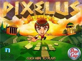 Title screen of Pixelus Deluxe on the PopCap.