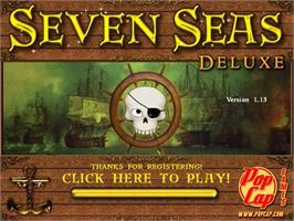 Title screen of Seven Seas Deluxe on the PopCap.