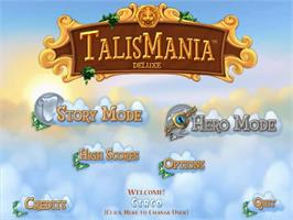 Title screen of Talismania Deluxe on the PopCap.