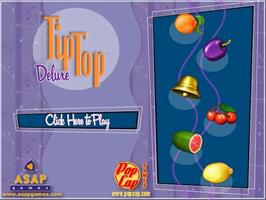 Title screen of TipTop Deluxe on the PopCap.