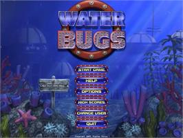 Title screen of Water Bugs on the PopCap.