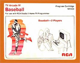 Box cover for TV Arcade IV - Baseball on the RCA Studio II.