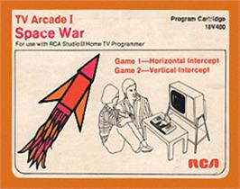 Box cover for TV Arcade I - Space War on the RCA Studio II.