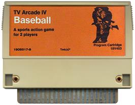 Cartridge artwork for TV Arcade IV - Baseball on the RCA Studio II.