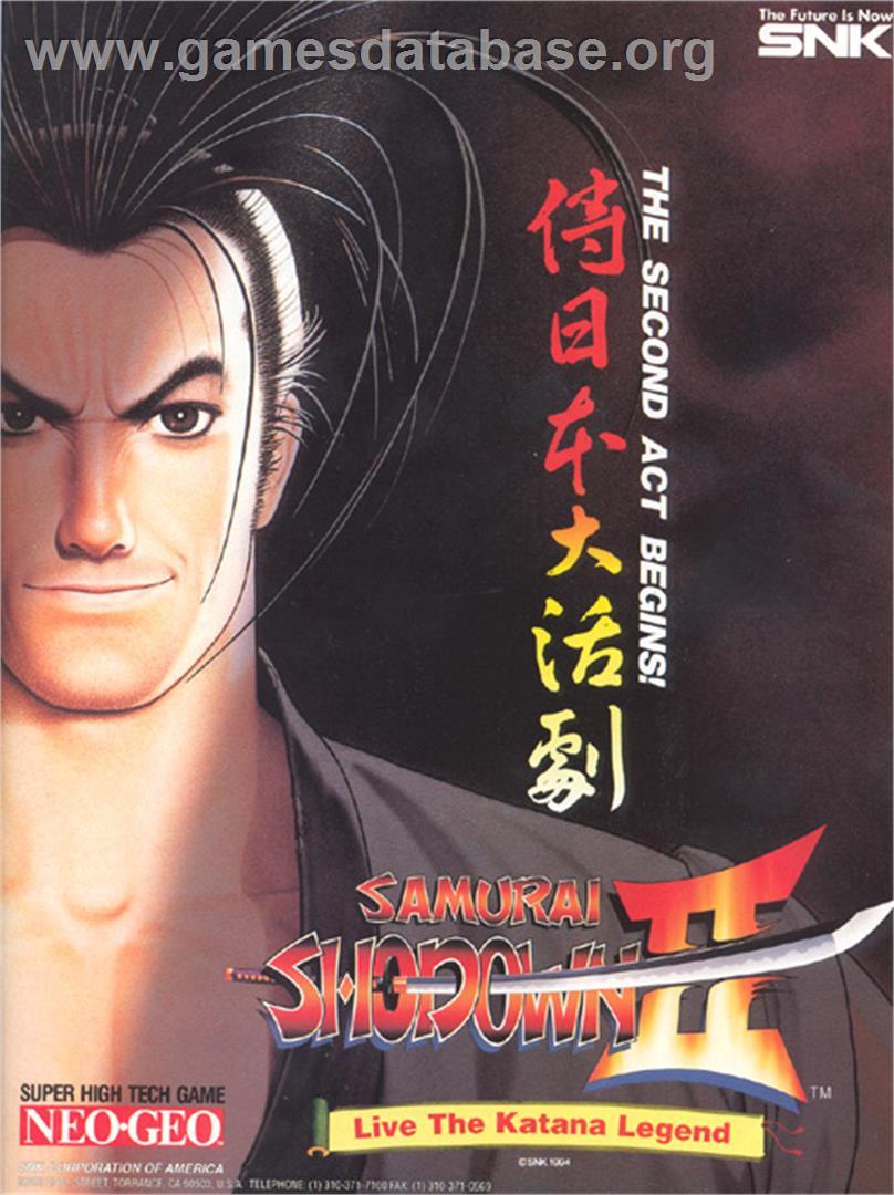 Collectibles 1994 Neo Geo Mvs Samurai Shodown Ii Artworks Arcade, Jukeboxes & Pinball