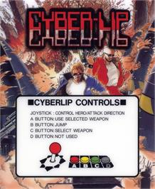 Box cover for Cyber-Lip on the SNK Neo-Geo AES.