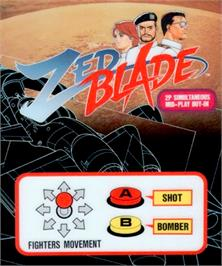 Box cover for Zed Blade on the SNK Neo-Geo AES.