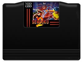 Cartridge artwork for Sengoku 2 on the SNK Neo-Geo AES.