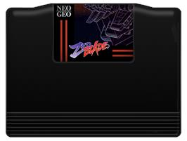 Cartridge artwork for Zed Blade on the SNK Neo-Geo AES.