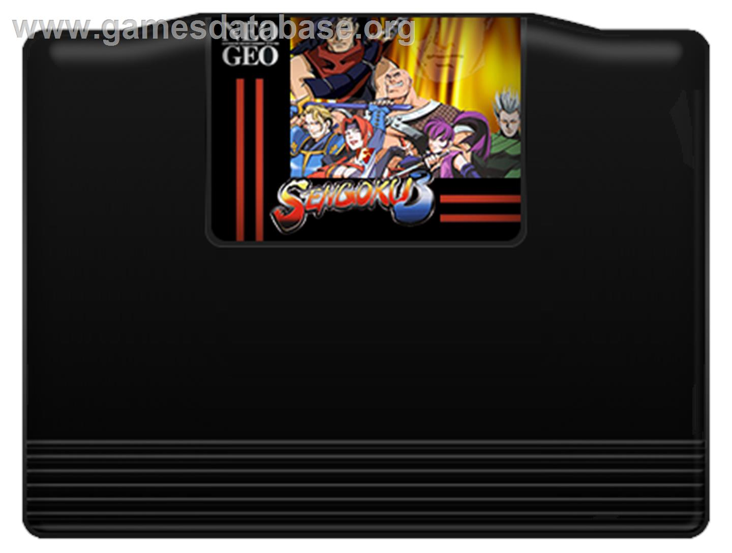 Sengoku 3 - SNK Neo-Geo AES - Artwork - Cartridge