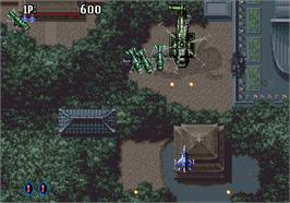 In game image of Aero Fighters 2 on the SNK Neo-Geo AES.