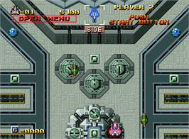 In game image of Alpha Mission II on the SNK Neo-Geo AES.