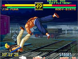 In game image of Art of Fighting 3: The Path of The Warrior on the SNK Neo-Geo AES.
