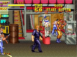 In game image of Burning Fight on the SNK Neo-Geo AES.