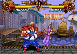 In game image of Double Dragon on the SNK Neo-Geo AES.
