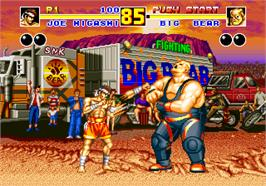 In game image of Fatal Fury 2 on the SNK Neo-Geo AES.