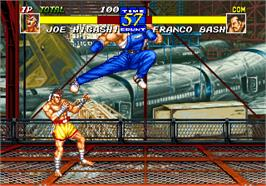 In game image of Fatal Fury 3: Road to the Final Victory! on the SNK Neo-Geo AES.