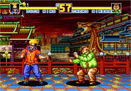 In game image of Fatal Fury Special on the SNK Neo-Geo AES.
