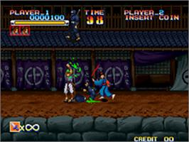 In game image of Ganryu on the SNK Neo-Geo AES.