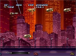 In game image of Last Resort on the SNK Neo-Geo AES.