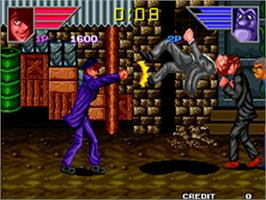 In game image of Legend of Success Joe on the SNK Neo-Geo AES.