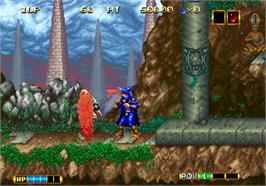 In game image of Magician Lord on the SNK Neo-Geo AES.