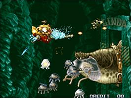 In game image of Metal Slug 3 on the SNK Neo-Geo AES.