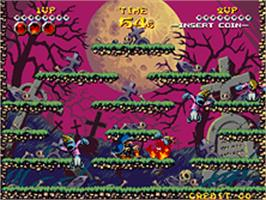 In game image of Nightmare in the Dark on the SNK Neo-Geo AES.