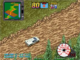 In game image of Over Top on the SNK Neo-Geo AES.