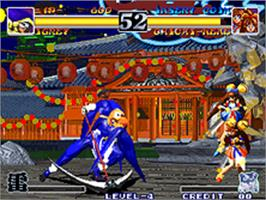 In game image of Ragnagard on the SNK Neo-Geo AES.