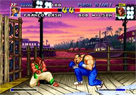 In game image of Real Bout Fatal Fury on the SNK Neo-Geo AES.