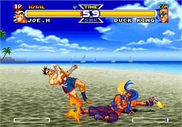 In game image of Real Bout Fatal Fury Special on the SNK Neo-Geo AES.