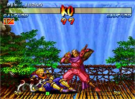 In game image of Samurai Shodown III: Blades of Blood on the SNK Neo-Geo AES.