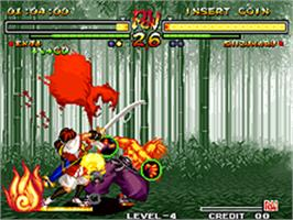 In game image of Samurai Shodown V on the SNK Neo-Geo AES.