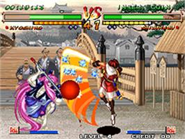 In game image of Samurai Shodown V Special on the SNK Neo-Geo AES.
