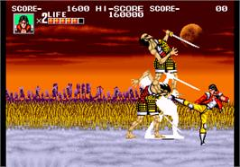 In game image of Sengoku on the SNK Neo-Geo AES.