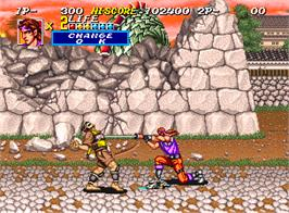 In game image of Sengoku 2 on the SNK Neo-Geo AES.