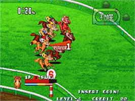 In game image of Stakes Winner on the SNK Neo-Geo AES.
