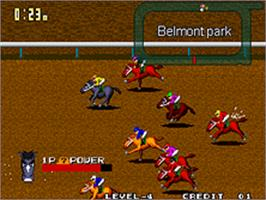 In game image of Stakes Winner 2 on the SNK Neo-Geo AES.