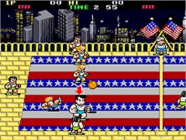 In game image of Super Dodge Ball on the SNK Neo-Geo AES.