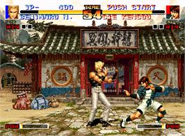 In game image of The King of Fighters '94 on the SNK Neo-Geo AES.