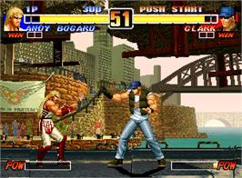 In game image of The King of Fighters '96 on the SNK Neo-Geo AES.