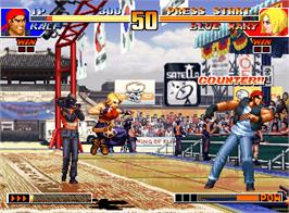In game image of The King of Fighters '97 on the SNK Neo-Geo AES.