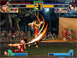 In game image of The King of Fighters 2001 on the SNK Neo-Geo AES.