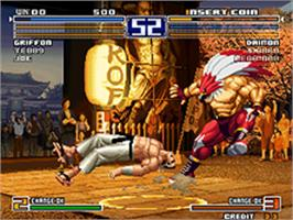 In game image of The King of Fighters 2003 on the SNK Neo-Geo AES.