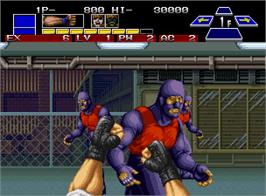 In game image of The Super Spy on the SNK Neo-Geo AES.