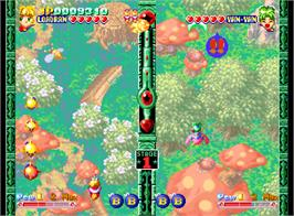 In game image of Twinkle Star Sprites on the SNK Neo-Geo AES.