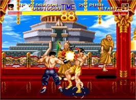 In game image of World Heroes 2 on the SNK Neo-Geo AES.