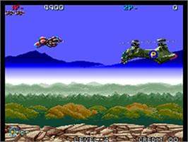 In game image of Zed Blade on the SNK Neo-Geo AES.